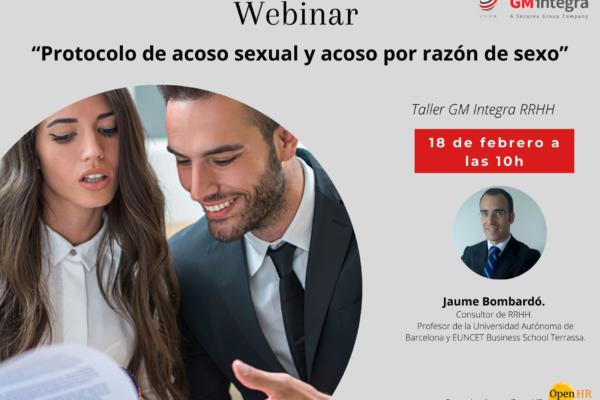 Protocolo de acoso sexual y acoso por razón de sexo